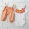 Gold & Pink Chevron Harem Pants and Onesie - summer, girl, baby, birthday