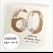 ANY AGE birthday card personalised kraft doily