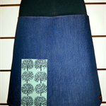 Denim Skirt with Trees & Bamboo Stretch Waist