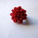 Red rose copper adjustable ring