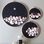MADE OF STARS- set of 3 little houses on hoops