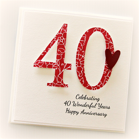 ... for your own 40th Wedding Anniversary or to gift to a special couple
