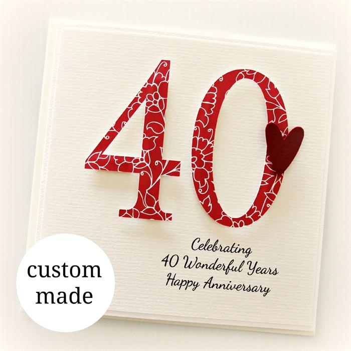 Anniversary Any Year Custom Card Wedding Wife Husband Mum Dad  50 60