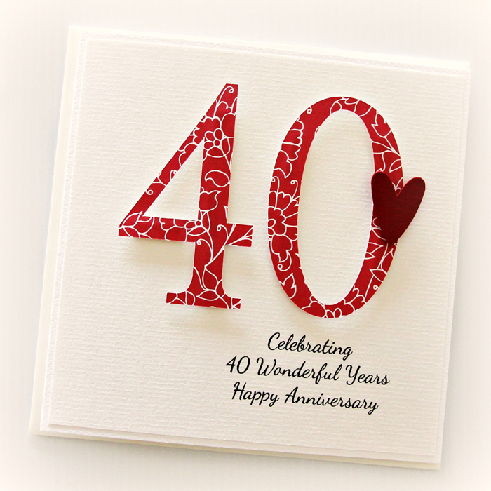 40 Wedding Anniversary Gift For Husband : ... for your own 40th Wedding Anniversary or to gift to a special couple