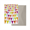 Flags Card. Bunting Card. Birthday Card. Colourful Card. Blank Card. Recycled.