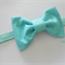 Classic Aqua bow stretch headband