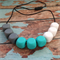 Silicone Square Teething Necklace | Chew Jewellery | Sensory Aid | Baby Nursing