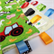 HAPPY FARM TRACTORS Security Blanket Blankie Taggie Toy + Taggie Saver