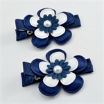 AFL Footy Hair Clips - Geelong