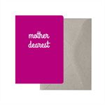 Mother Dearest Card. Mum Card. Mothers Day Card. Funny Mum Card.