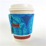 Coffee Cup Cuff/ Cosy/ Sleeve - Brilliant Blues
