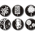 Fridge magnet set - Trees