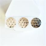 Embossed {50} Metallic Silver Foil Envelope Seals Stickers Weddings