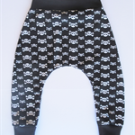 Pirate Harem Jogger Skulls & Crossbones, Stretch Pants Sizes 6M- 2
