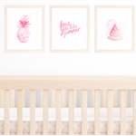 Summer Girl Nursery Set of 3 Prints