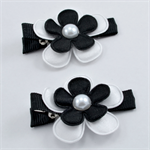 AFL Footy Hair Clips - Collingwood