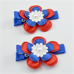 AFL Footy Hair Clips - Western Bulldogs