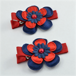 AFL Footy Hair Clips - Melbourne