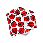 Dribble Bandanna Bib Bamboo Ladybug Girls Red Teething bandanna