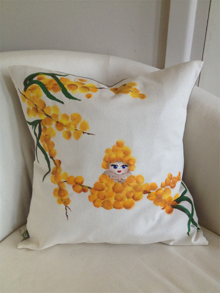 Australian Made Gum Nut Baby Hand Painted Cushion Cover Original Art Gorgeous Hand Painted Pillow Covers