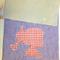 Fabric Folder, Homework, paper storage Girl Silhouette, cameo, purple,pink,