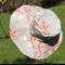 Ladies Grey, White and Orange Flower Floppy Sunhat Ready to post