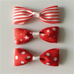Red and white christmas bows -headband or barette