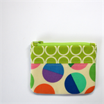 Patch Happy Pouch - Candy Dots and metro circles on green.