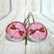 Dragonfly - Leaver Back Glass Cabochon Earrings