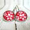 In Bloom - Leaver Back Glass Cabochon Earrings