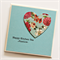 Kitchen Tea custom card turquoise floral vintage heart  bride to be