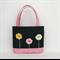 Mini Tote Bag - Denim & Pastel Pink