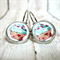 Cupcake - Leaver Back Glass Cabochon Earrings