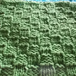 Square cotton/acrylic washcloth in vibrant green