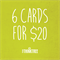Bundle Buy Greeting Cards - 6 for 20