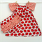 Red Apples peasant dress with nappy cover - Baby, Girl, Newborn, Toddler