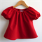 Peasant Top, Red, sizes 2 to 10