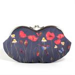 Eyeglasses case clutch purse - Poppy field at night - /sunglasses case/