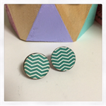 Laser Cut Wooden Chevron Earrings