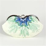 Eyeglasses case clutch purse - Sea flower - /sunglasses case/wallet