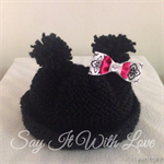 Minnie Mouse newborn beanie hat, photo prop, cute Halloween outfit, gift