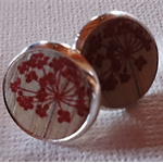 Gorgeous set of 'Red flowers' Earrings