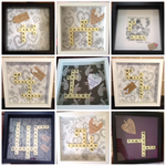 Personalised scrabble frames to celebrate a wedding