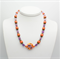 Purple and Orange Necklace with Matching Earrings