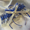 Wedding Garter ,  personalised Electric blue satin and Ivory Lace with heart