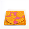 Pocket Purse - Golden Yellow Flowers, leaves & spotty dots on pink