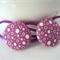 Hair Ties - Purple With White Spots
