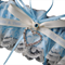 Wedding Garter ,  personalised soft blue satin and Ivory Lace with heart