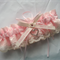 Wedding Garter , beautiful personalised Sof Pink satin and Ivory Lace with heart