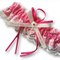 Wedding Garter , beautiful personalised Hot Pink satin and Ivory Lace with heart